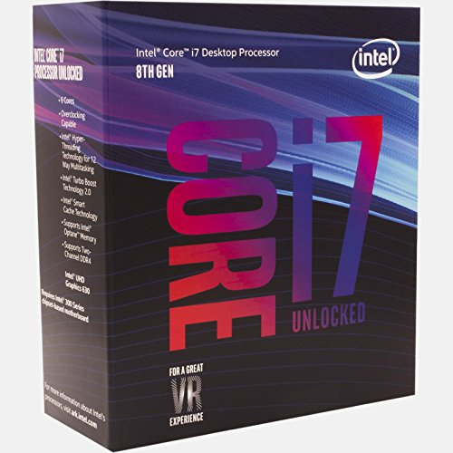 Intel Core i7-8700K Desktop Processor 6 Cores up to 4.7GHz Turbo Unlocked LGA1151 300 Series 95W BX80684i78700K Four Unit