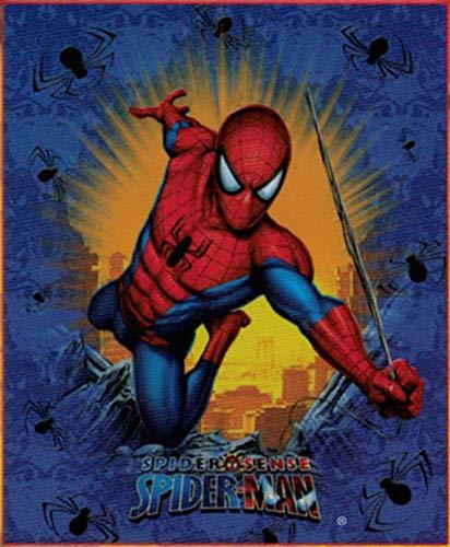 Franco MFG Marvel Amazing Spiderman Plush Fleece Throw Blanket - Spider ()