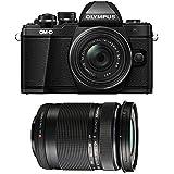Olympus OM-D E-M10 Mark II Mirrorless Camera w/14-42mm EZ & 40-150 F4.0-5.6R Bk