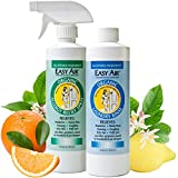 Easy Air Organic Allergy Relief Combo-Pack, 2 Natural Remedies for Dust Mite Allergy Relief and Pet Allergy Solutions, Includes Allergen Neutralizing Spray and Allergy Control Laundry Rinse