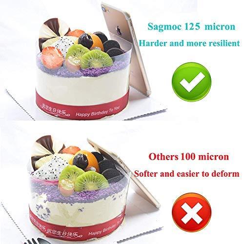 Cake Collars Queta Clear Cake Slides Rollos de Cake transparente Mousse Cake Acetato Hojas para Hornear Mousse de Chocolate 10cm x 10m Cake Decorate