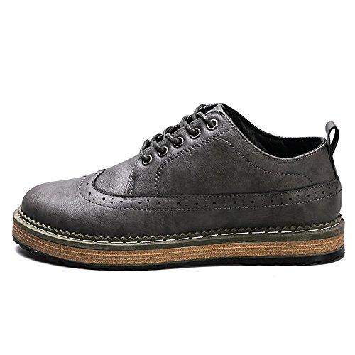 Sport Gris Chaussures Jusqu'à La color 43 Hommes Décontractées Classiques 44eu Jialun Noir Eu Oxford des Pour Taille wf1IqFFga