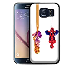 disney tangled and spiderman for Samsung Galaxy S6 Edge Black case