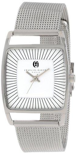 Charles-Hubert, Paris Women's 6942-W Premium Collection White Dial Mesh Band Watch