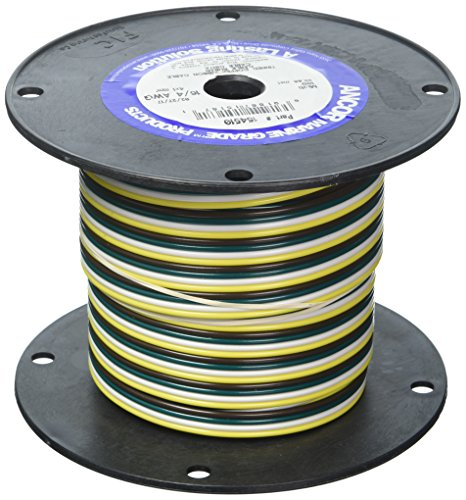 Ancor 154510 Marine Grade Electrical Flat Tinned Ribbon Boat 4-Cable Wiring (16-Gauge, ()