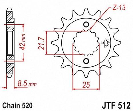 JT Pi/ñones jtf437.16/16T pi/ñ/ón Frontal de Acero
