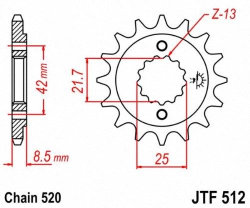 JT Sprockets JTF512.16 16T Steel Front Sprocket