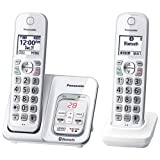 Panasonic KX-TGD592W Link2Cell Bluetooth Cordless Phone with Voice Assist and Answering Machine - 2 Handsets (Renewed)