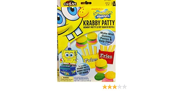 Spongebob Squarepants Gummy Krabby Patty And Kelp Fries Maker Set