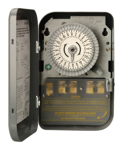 Woods 59104WD Indoor 24-Hour Heavy Duty Mechanical Time Switch, 208/277V 40A DPST (Dpst Time Switch Mechanical)