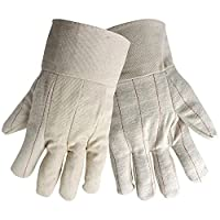 Global Glove C18BT Double Palm Glove with Band Top, 18 oz. Hot Mill