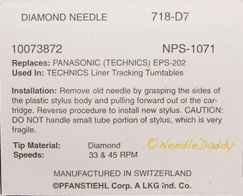 Technics P24 Technics SLBD22//ámbar Nueva Tocadiscos Aguja para Technics EPS24CS
