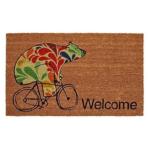 Home & More 122022436 Bear Fun Doormat, Multicolor - Love Door Mat