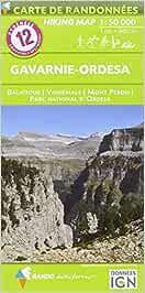 Pyrénées carte 12 Gavarnie - Ordesa 1 : 50 000: Carte de Randonnées (CARTES PYRENEES - 1/50.000)