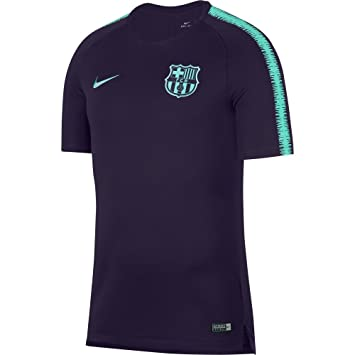 various colors 0f56b bc780 Nike Men s FC Barcelona Breathe Squad T-Shirt, Purple Dynasty Hyper  Turquoise,