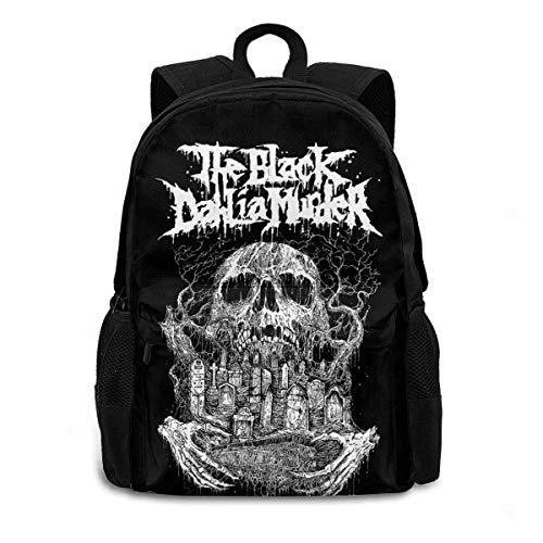 Hengtaichang The Black Dahlia Murder Backpack Shoulder Bag School Bag Bookbag for Hiking Traveling School