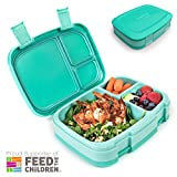 Bentgo Fresh (Aqua) – Leak-Proof & Versatile 4-Compartment Bento-Style Lunch Box – Ideal for Portion-Control and Balanced Eating On-the-Go – BPA-Free and Food-Safe Materials