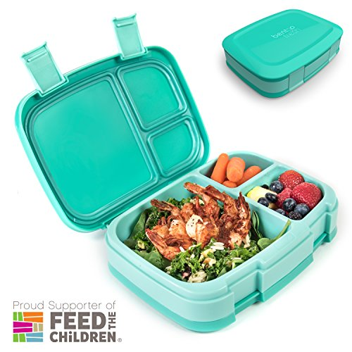 Bentgo Fresh (Aqua) – Leak-Proof & Versatile 4-Compartment Bento-Style Lunch Box – Ideal for Portion-Control and Balanced Eating On-the-Go – BPA-Free and Food-Safe Materials by Bentgo