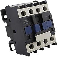 MagiDeal CJX2-1810 AC Bobine 3-Phase 1NO 50/60Hz Contacteur Relais de Démarreur de Moteur 24-380V - 220V