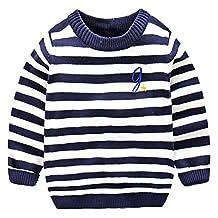 LittleSpring Little Boys' Sweater Striped Pullover