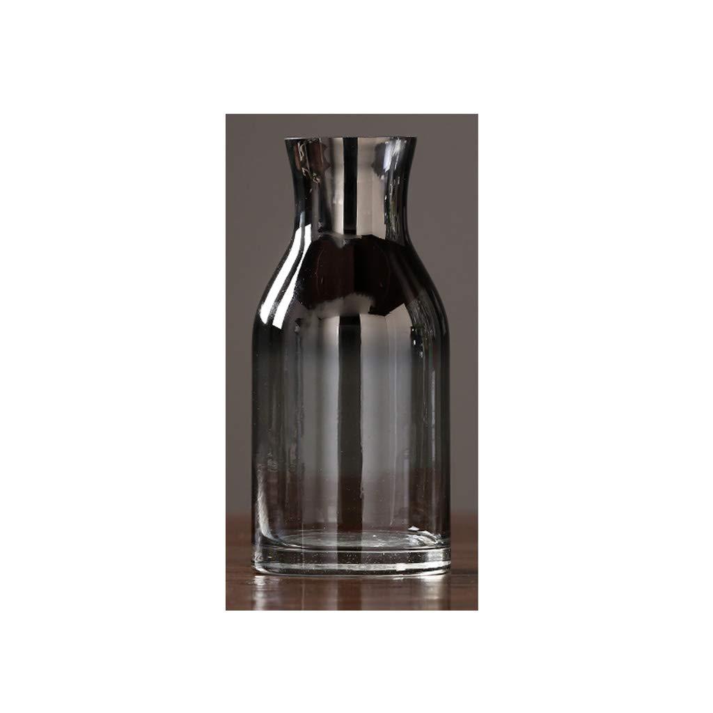 ガラス花瓶/水耕植物花瓶/リビングルームドライフラワーフラワーポットグレー QYSZYG (サイズ さいず : 25×11.5×7.5cm) B07RM2PQNJ  25×11.5×7.5cm