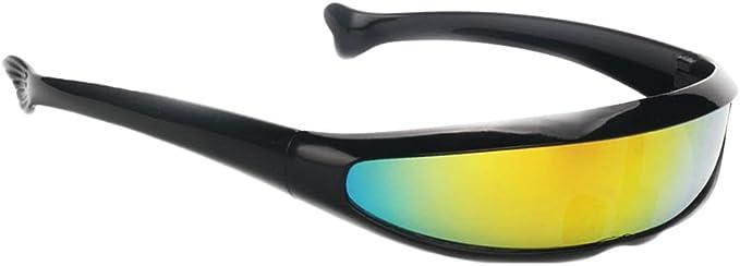2Pcs Neuheit Metallic Sonnenbrille Kunststoff Narrow Cyclop Eyewear Party Favor