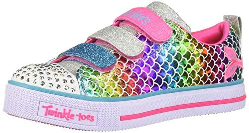 Skechers Kids Girls' Twinkle LITE-Sparkle Scales Sneaker, Multi, 1 Medium US Little Kid