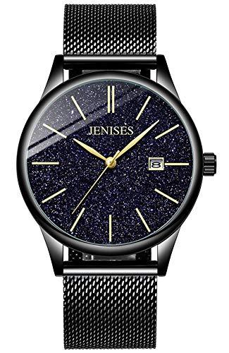 Jechin Men s Starry Sky Black Wristwatch Waterproof Date Quartz Analog Watches