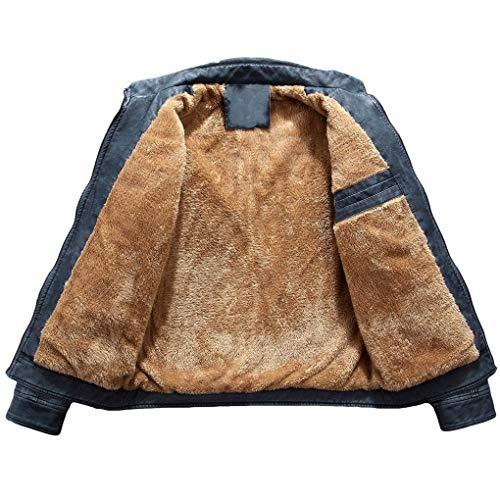 Leather Automne Jackets Pour Bleu Manteaux Épais Homme En Veste Classique Acmede Blousons Moto Pu Cuir Chaud Hiver Biker 5qZRnTa