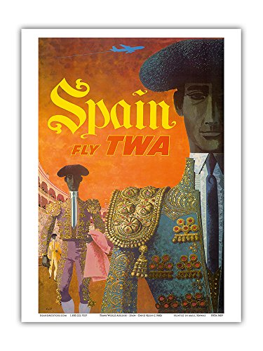 spain-fly-twa-trans-world-airlines-matadores-matadors-vintage-airline-travel-poster-by-david-klein-c