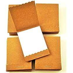 Mini Notepads Matchbook Style Party Favors in Kraft Set of 20