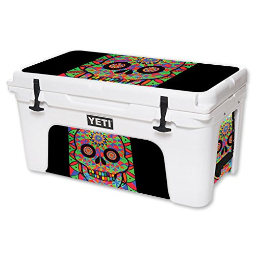 MightySkins Skin For YETI 65 qt Cooler - Geo Sugar Skull | Protective, Durable, and Unique Vinyl Decal wrap cover | Easy To Apply, Remove, and Change Styles | Made in the USA by MightySkins