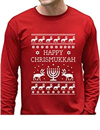 TeeStars - Happy Chrismukkah Funny Ugly Christmas/Hanukkah Long Sleeve T-Shirt