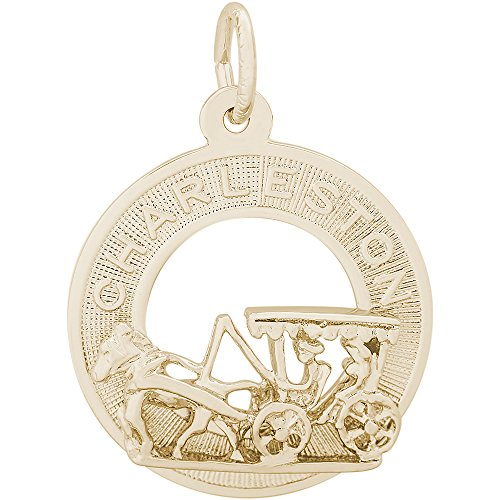 Rembrandt Charms 14K Yellow Gold Charleston Carriage Charm (19 x 19 mm)