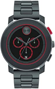 Movado Gray Stainless Black dial Watch for Men 3600272