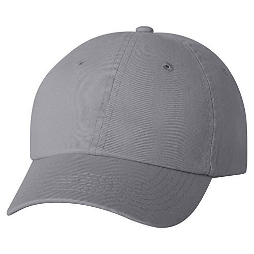 Youth Bio-Washed Unstructured Cap Gray - Valucap VC300Y - Size Adjustable (Cotton Chino Twill Cap)