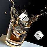 Kollea-Stainless-Steel-Chilling-Reusable-Ice-Cubes-for-Whiskey-Wine-Pack-of-6
