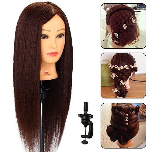 Neverland Beauty 22 inch Mannequin Head 80% Human Hair Long Practice Manikin...
