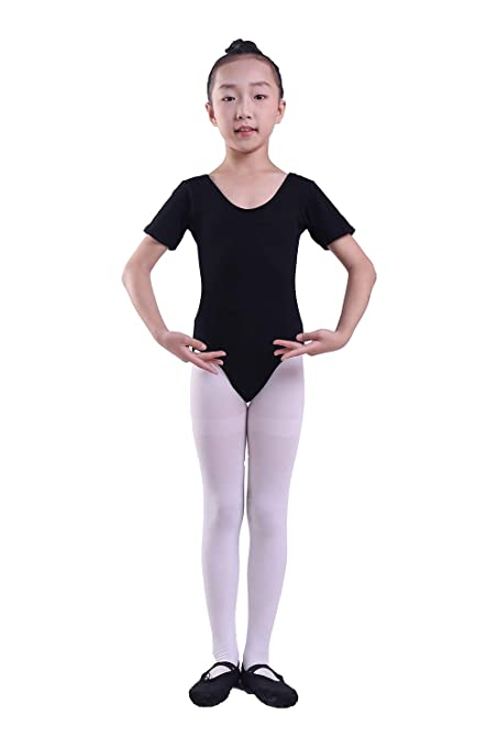 1d5a0deb4 Amazon.com  Lovelyprincess Girls Classic Dance Short Sleeve Leotard ...