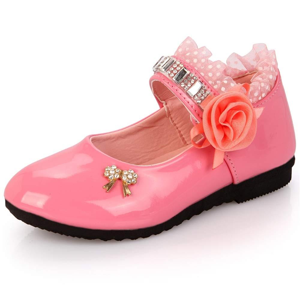 Dolwins Kids Mary Jane Girls Sweet Bow Princess Dress Ballet Flat Shoes