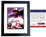 Eddie Murray Signed - Autographed Baltimore Orioles 8x10 inch Photo BLACK CUSTOM FRAME - PSA/DNA Certificate of Authenticity (COA)