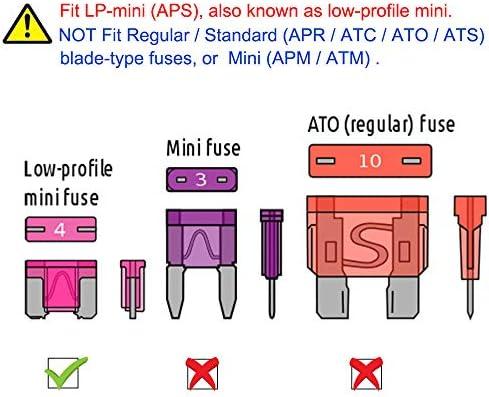 All Trade Direct 2 X 30 Amp Low Profile Micro Mini Blade Fuse Car Auto