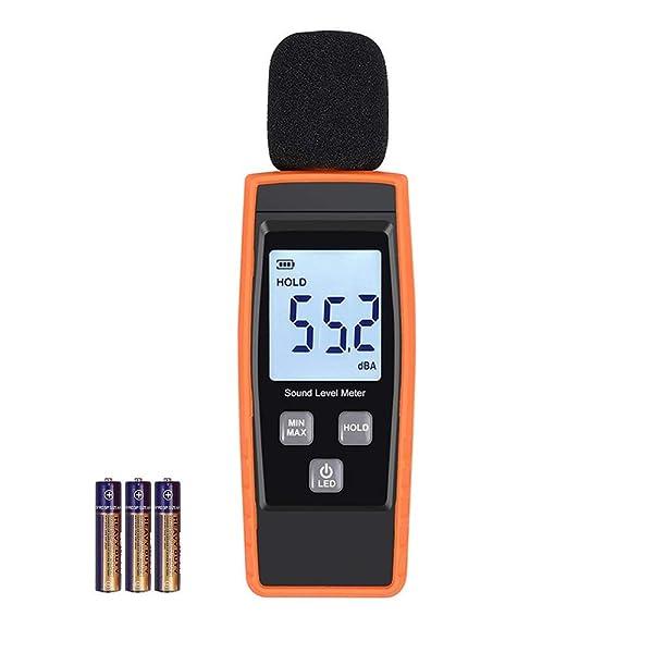 WINIFIN Decibel Meter, Sound Level Meter 30-130 dB Meter Audio Noise Measure Device Sound Measuring Reader Self-Calibrated Decibel Monitoring Tester