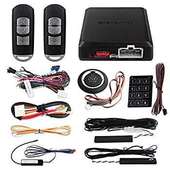 Image of Alarm Systems EASYGUARD EC002-MA PKE car Alarm Passive keyless Entry auto Start Push Start Button & Password keypad Access Rolling Code dc12V