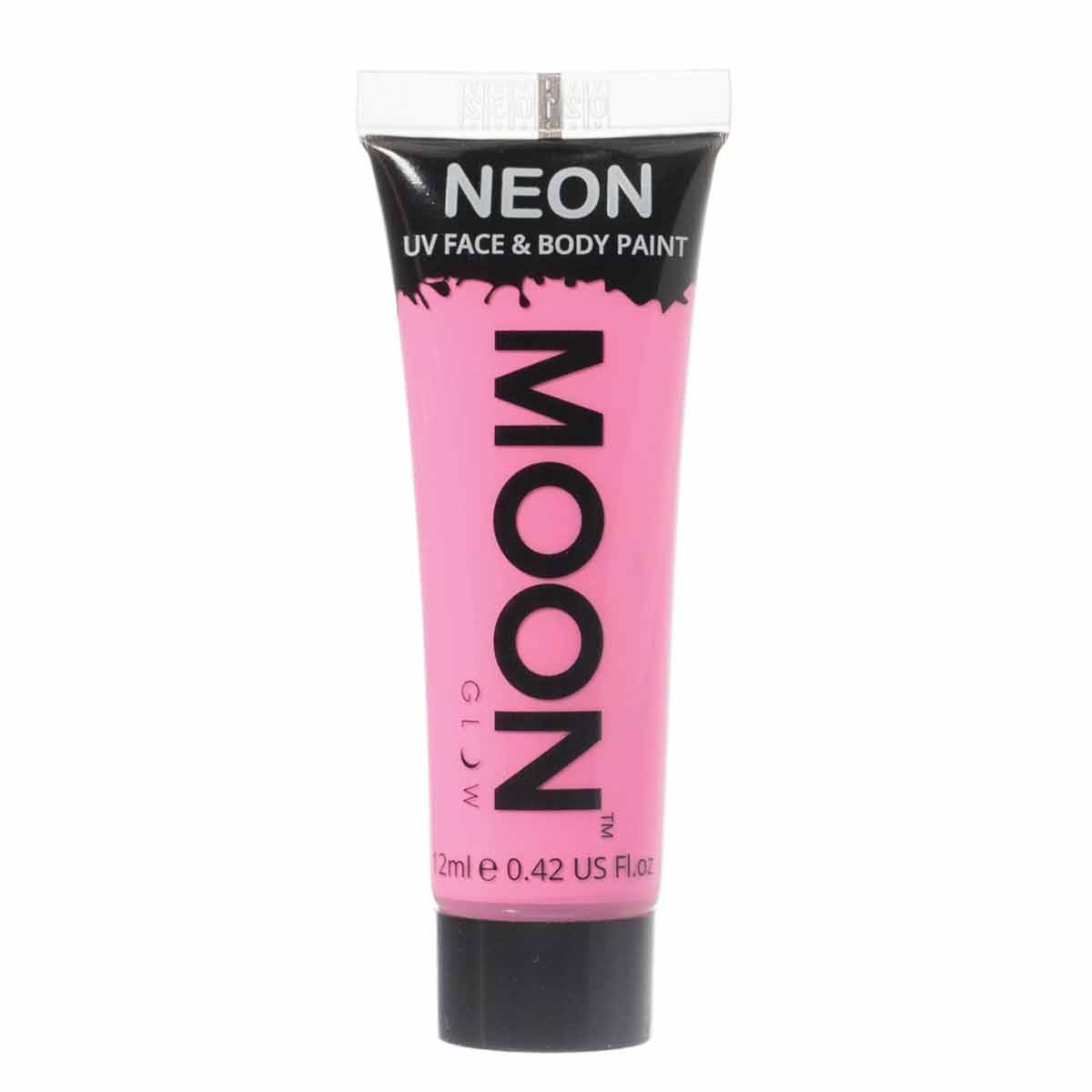 Moon Glow - 0.42oz Blacklight Neon UV Face & Body Paint - Pastel Pink