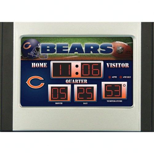 Desk Clock Bear (Chicago Bears Official NFL 6.5 inch x 9 inch Scoreboard Desk & Alarm Clock by Evergreen Enterprises)