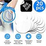 BIG SIZE Underarm Sweat Pads - [20 Pack] iAbler Pure Antiperspirant Adhesive Underarm Pads, Comfortable, Sweat Free, Odor Blocker, Discreet, Perspiration Sweat Pad