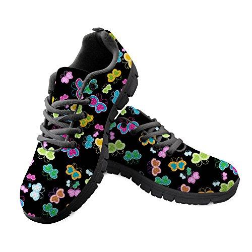 Girl Lightweight Butterfly Women Print Butterfly Shoes HUGS IDEA 5 Running Sport Sneakers qwU07O