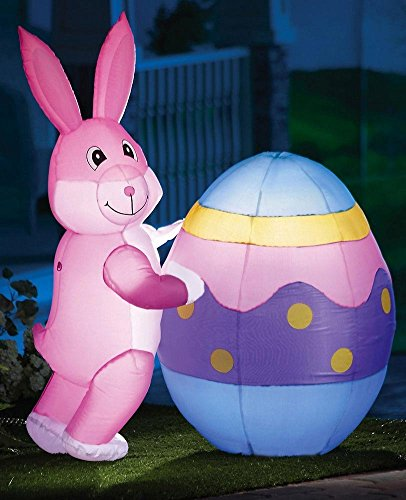 Easter Bunny Egg Airblown Decor Inflatable Blow up Garden Ya