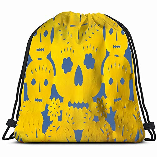 Detail Mexican Typical Decorative Paper Called Holidays Hispanic Signs Symbols Drawstring Bag Backpack Gym Dance Bag Reversible Flip Sequin Bling Backpack For Hiking Beach Travel Bags]()